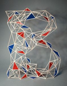 Zim and Zou #letter #dimensional #geometric #installation
