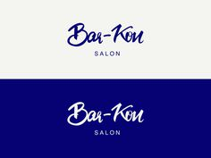 Bar-Kon Logo for a salon in Seattle. #lettering #type #typography #brushpen #vector #logo #logodesign #pen #paper #illustrator