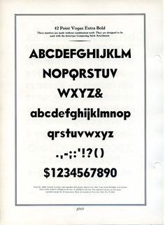 Vogue type specimen #type #specimen #typography