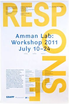 Rumors – Studio X Amman Workshop 2011 Poster #print #design #graphic #yellow #poster #typography