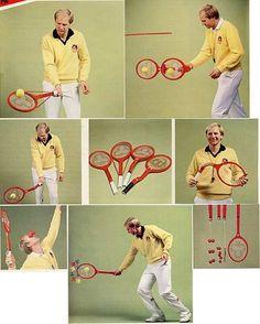 Hans Zinner`s special tennis training racquets, 1984 - 80s-tennis.com #hans zinner #oddish racquets #1984