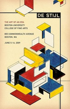 De Stijl: The Art Of An Era Michael Deal ◊ Graphic Design #poster