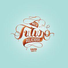 Meu Futuro Delicioso Lacta - Logo #typography #lettering #logo #chocolate