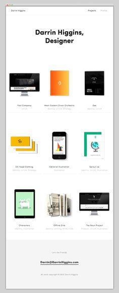 Darrin Higgins #design #web #minimal