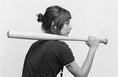 Nickel Cobalt #girl #baseball bat #freedom #anarchy #fuck you