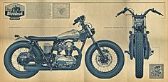 :: DEUS EX MACHINA - The Bloodnok W650 :: #print #motorcycle #illustration