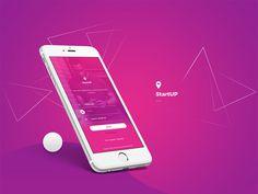 Mobile App Login Screen #app #ui