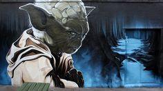 Yoda graffiti street art #graffiti #realism #street #art #realistic
