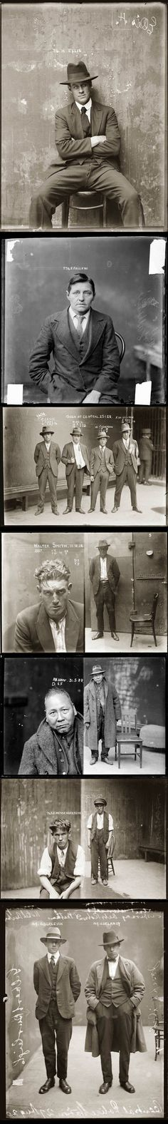 Police mugshots... #profile #police #evidence #bandits #mugshots #thieves #photography #1920s #vintage #criminals #arrest #thugs #crime