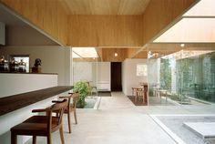 Table Hat / Hiroyuki Shinozaki Architects #wood #ceilings #interiors #architecture
