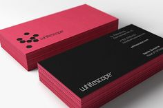 Whitescape - Corporate Identity on the Behance Network #business #cards #identity #branding
