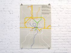 Public Transport to the Competition Sites, Munich Olympics, 1972, Otl Aicher #olympic #design #graphic #map #wayfinding #aicher #munich