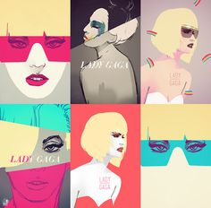 Lady Gaga illustration by NOOK #nyc #illustration #gaga #lady