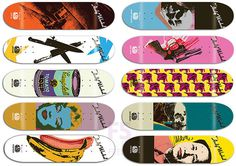 Google Image Result for http://f5torefresh.com/wp content/uploads/2010/02/warhol decks.jpg #alien #andy #warhol #workshop #skateboard