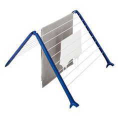 Dry laundry over your tub with this foldable rack. Save space and energy.