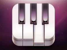 'Go! Piano' App Icon Design by Ramotion http://dribbble.com/ramotion #piano #icon #ipad #design #iphone #app #applica #ios