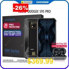 DOOGEE #S95 #Pro #Modular #Rugged #Mobile #Phone #6.3inch #Display #5150mAh #Helio #P90 #Octa #Core #8GB #128GB