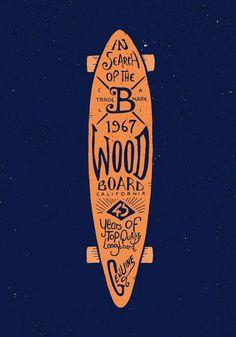 Graphic & hand-lettering boards #skateboard #longboard