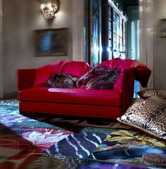 Red sofa by Roberto Cavalli Home collection artistic furniture #accessories #artistic #collection #home #furniture #cavalli #art #roberto