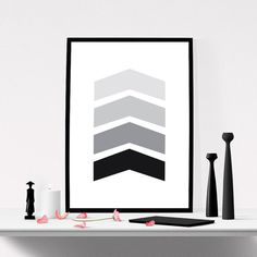 Chevron Wal Art. #iloveprintable