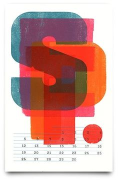 Work — Colin M. Ford, Designer #type #calendar #letterpress