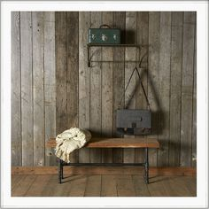 Salvaged wood bench | recycled furniture | reclaimed wood seating #bench