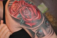 25 Rose Tattoo Designs | Cuded #rose #tattoo #designs