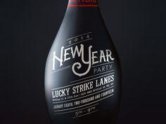 New Year Invite 2014 #typography