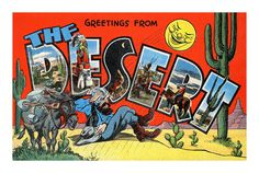 All sizes | The Desert postcard | Flickr Photo Sharing! #illustration #vintage #desert #postcard #southwest