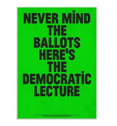 The Democratic Lecture