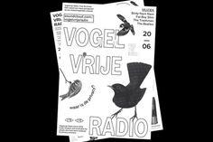 anothergraphic: Vogelvrije Radio #print