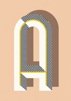 Elegant, Geometric Typography Posters From A Z DesignTAXI.com #design #typography #type #lettering