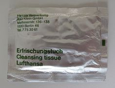 Lufthansa Tissue Flickrgraphics #packaging #lufthansa #flickrgraphics