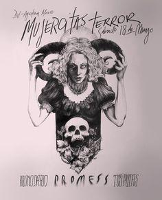 Mujercitas Terror! #punk #rock #flyer #gig #garage #poster