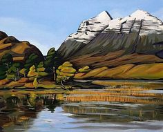torridon.jpg 614×500 pixels #acrylic #torridon #highlands #liathach #paint #painting #scotland #canvas #mountains