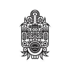 Black & white totem series. http://society6.com/MuratSunger shop #shop #print #art #illustration