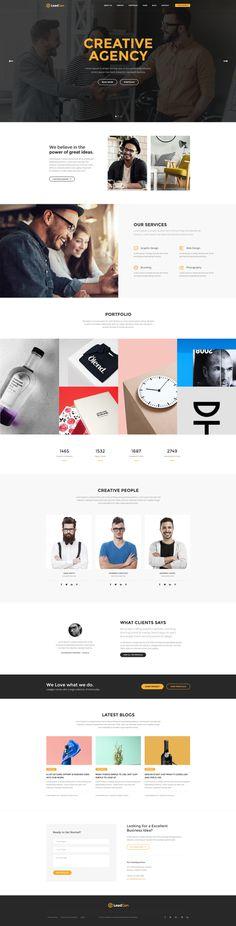 LeadGen Marketing Landing Page - Design Agency, buy - https://goo.gl/KD0bMP