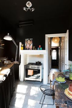 black, like i take my coffee / sfgirlbybay #interior design #decoration #decor #deco