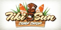 Aloha Script Webfont #script #tiki #illustration #hawaii #type #aloha