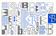 B, Embroidery Letterforms, Present and Correct