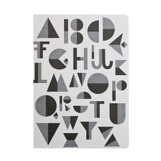 #notebook #writing #type #lettering #typography #design #graphic #danish #nordic #book #geometry #black #grey #white #blackandwhite #recycle