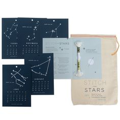Stitch the Stars 2013 Calendar Kit Click Image to Close #thread #bag #packaging #calendar #astrology #embroidery #needle #canvas