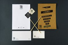 Taione Stationery #business #branding #menu #envelope #stationery #letterhead #cards