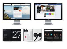 #design #typography #branding #identity #modern #annualreport #website #digital #bold