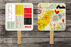 Bill's Fried Chicken menus #fan #menu #art of the menu #bill's fried chicken