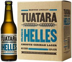 Tuatara Helles #beer #bottle #label #packaging