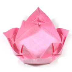 How to make an easy origami lotus flower (http://www.origami-flower.org/howto-origami-lotus.php)