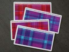 Plaid Lab Business Card | Studio On Fire #card #plaid #letterpress #business