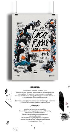 Pressbook / Recital CocoRosie on Behance #coco #music #illustration #poster #rosie