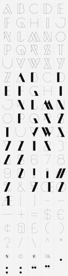 NewModern on the Behance Network #typography